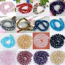 Crystal Faceted Abacus Glass Rondelle Loose Bead For Jewelry Making Finding DIY