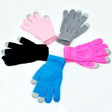 Hot Soft Winter Unisex Touch Screen Gloves Texting Capacitive Smartphone Knit H0