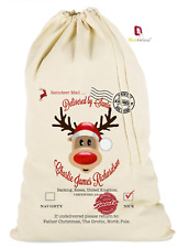 PERSONALISED CHRISTMAS STOCKING SANTA SACK, ANY NAME MANY NEW DESIGNS & SIZES!