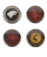 Game Of Thrones Buttons, House Stark, Lannister, Baratheon and Targaryen, Tyrion