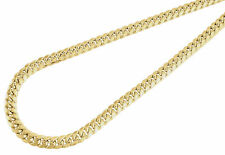10K Yellow Gold Semi Hollow 6 MM Miami Cuban Link Necklace Chain 26 - 40 inch