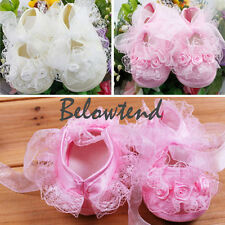 Lace Flower Baby Girls Shoes Toddler Infants Shoes Kids Newborn Princess Shoes