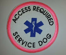 Pick A Border Color Embroidered Sew-On Patch - ACCESS REQUIRED SERVICE DOG