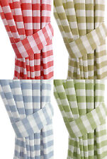PAIR OF FANTASTIC CHAMONIX GINGHAM CHECK KITCHEN TIE BACKS