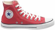 Converse All Star HI Canvas Trainers Pumps Shoes Red  Size 3 - 11
