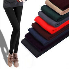 Women Brushed Stretch Velvet Thick Tights Winter Warm Pants Shaping Leggings