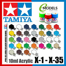 TAMIYA 10ml Acrylic Paint X-1 to X-35 | Choose Your Colour: