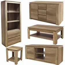 OAK BOOKSHELF BOOKSIDE TV UNIT STAND COFFEE LAMP TABLE SIDEBOARD LIVING ROOM