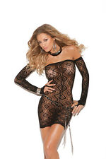 Vivace Black Diamond Pattern Bandeau Dress with Open Back and Matching Gloves