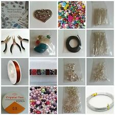 Giant Large Deluxe Jewellery Making Starter Kit Silver Plated, Beads Tools book