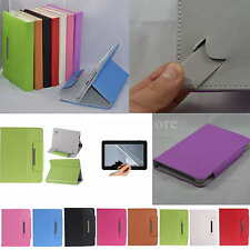 """Colorful Flip PU Leather Case+Free Film For 7"""" Ematic EGD172BL EGQ337 Tablet PC"""