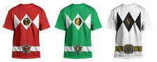 Authentic Mighty Morphin Power Rangers Costume Adult Men T-Shirt Tee