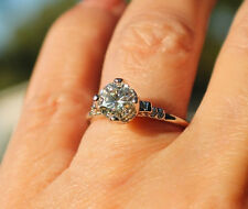 Moissanite Tulip Style Engagement Ring 14kt W or Y Gold Video Pick size to order