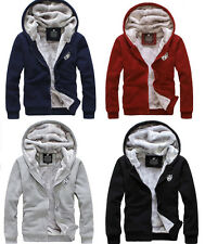 Men's Winter Sweatshirts Jackets hoodie Thick Velvet Zipper Coat Parka Hoodies
