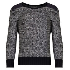 Boys Black And Grey Knitted Cotton Winter Jumper, Sweater 8 - 16 Years