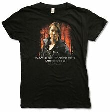 """THE HUNGER GAMES """"KATNISS EVERDEEN"""" BLK BABY DOLL T-SHIRT NEW MOVIE OFFICIAL JRS"""
