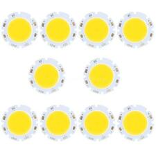 10x Super Bright Round COB LED Chip Bulb Lamp Light Pure/Warm White 3W 300LM