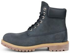 """TIMBERLAND MEN'S 6"""" PREMIUM LEATHER WATERPROOF BOOT NAVY BLUE 6163A SELECT SIZE"""