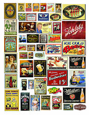 1: 24 1:18 VINTAGE BREWERY BAR BEER WHISKEY SIGNS DECALS FOR DIECAST DIORAMAS