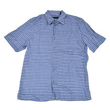Via Europa Mens Short Sleeve Buttondown Shirt Mb0073