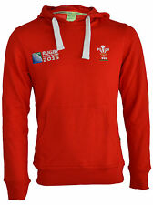 MENS WALES ORIGINAL WRU WORLD CUP 2015 LONG SLEEVE RUGBY HOODIE JACKET TOP
