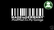 Pegatina MADE IN GERMANY MODIFIED IN MY GARAGE DUB VW EURO