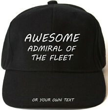 AWESOME ADMIRAL OF THE FLEET PERSONALISED BASEBALL CAP HAT XMAS GIFT