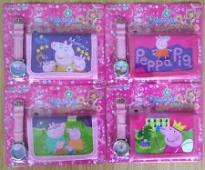 PEPPA PIG Wristwatch Watch and Wallet Purse Set. Lovely gift idea.