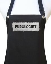 "Black Silver orGold ""Furologist"" pet dog grooming groomer salon waterproof apron"