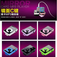 Fashion 7 Colors  Mirror Clip USB Digital Mp3 Music Player PU To 8GB SD TF Card
