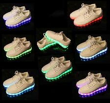 New Couple LED Light Lace Up Luminous Shoes Sportswear Sneaker 7colors in 1shoes