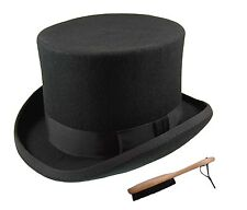 Quality Hand Made 100% Wool Top Hat Wedding Event Hat 5 Colours 4 Sizes