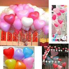 30PCS Helium Heart Love Latex Balloon For Party Wedding Anniversary Chrismtams
