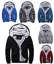 Winter Sweatshirts Jackets Thick Velvet Hooded Zip Coat Hoodies men's Outerwear