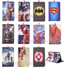 Super Hero Cartoon Folding Flip Leather TPU Case Smart Cover For Samsung Tablet