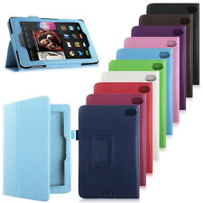 Folding PU Leather Stand Cover Case  For 2014 Amazon Kindle Fire HD 6 7 Tablet