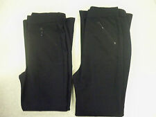 Two Pairs of Girls Navy Trousers - Ideal for school -  new -