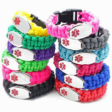 Paracord Medical ID Bracelet Unisex - by Chic Alert Medical ID