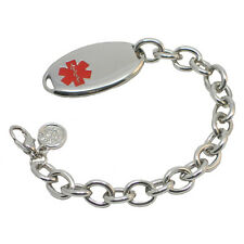 Stainless Steel Simple Strand Medical ID Bracelet Unisex - Chic Alert Medical ID