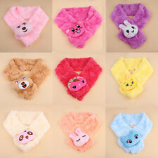 New Cute Infants Baby Young Children Cartoon Warm Soft Plush Scarf  Wraps Winter