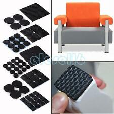 SELF ADHESIVE BLACK TABLE CHAIR SOFA FURNITURES LEGS FEET FLOOR PADS PROTECTORS