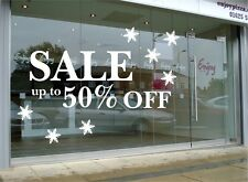 SALE SIGN SHOP RETAIL WINDOW DECAL STICKER Shop Window  Signs Removable