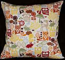 Owl Deer and Rabbit Forest Cushions Room Kids Home Cover Insert Decor Furniture