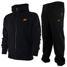 Nike New Mens fleece3D black & Gold Tracksuit Jacket Bottoms Warm-Up  Trousers