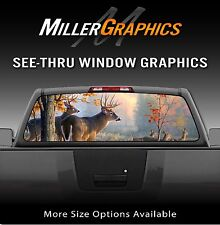 Buck Deer Scenery Hunting Rear Window Decal Graphic Truck SUV