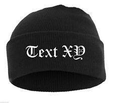 Winter Hat With Your Desired Text Embroidered ++ Ultras Acab Football