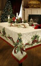 CHRISTMAS RIBBON TABLECLOTH