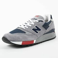 NEW BALANCE 998 RUNNING SHOES GREY NAVY RED M998GNR MADE IN USA