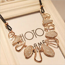 Fashion Chunky Chain Choker Bib Statement Collar Pendant Necklace Jewelry Party