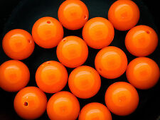 17.5mm 5/10/20/50pcs ORANGE RED ROUND ACRYLIC PLASTIC BUBBLEGUM BEADS SC02432